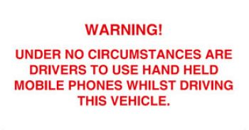 Mobile Phone Warning
