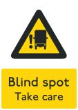 Blind Spot Warning Label
